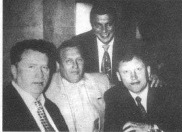 Слева направо: Владимир Жириновский, Александр Ефимов, Руслан Коляк, Михаил Глущенко