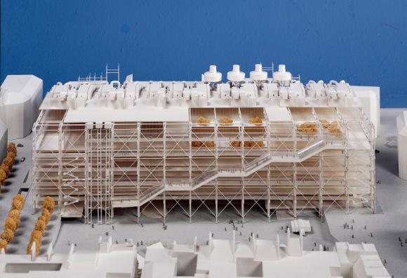 Ренцо Пьяно, Ричард Роджерс. Макет здания Центра Жоржа Помпиду (1971-77)