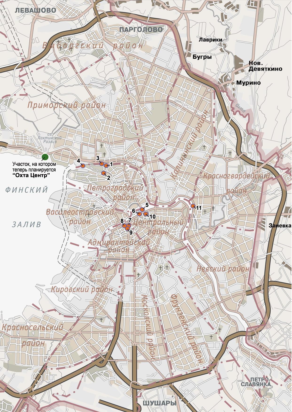 Карта точек обзора