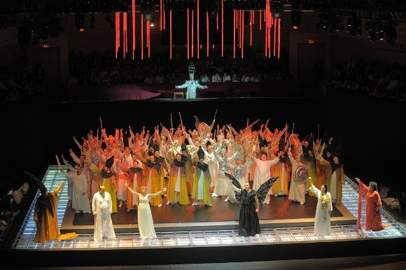 """Сцена из оперы """"Аида"""", Концертный зал Мариинского театра, режиссер Даниэле Финци Паска"""