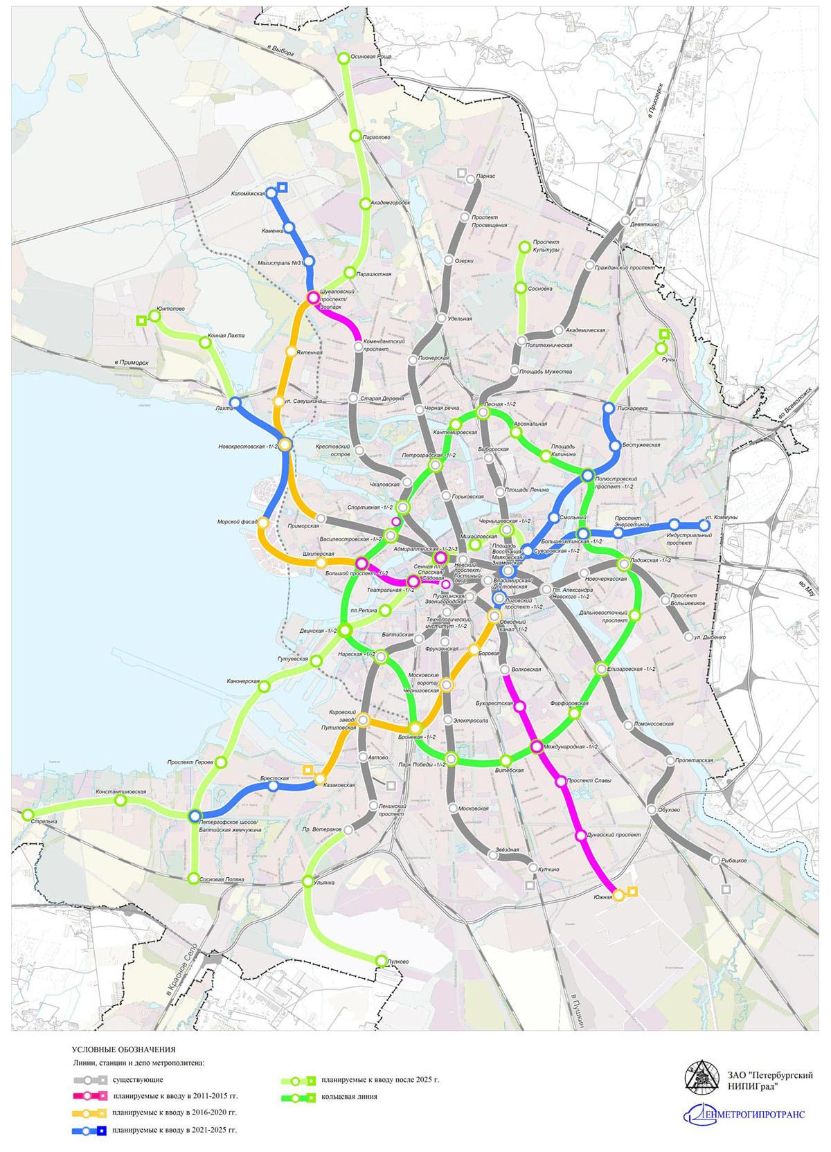 схема метро санкт петербурга с вузами