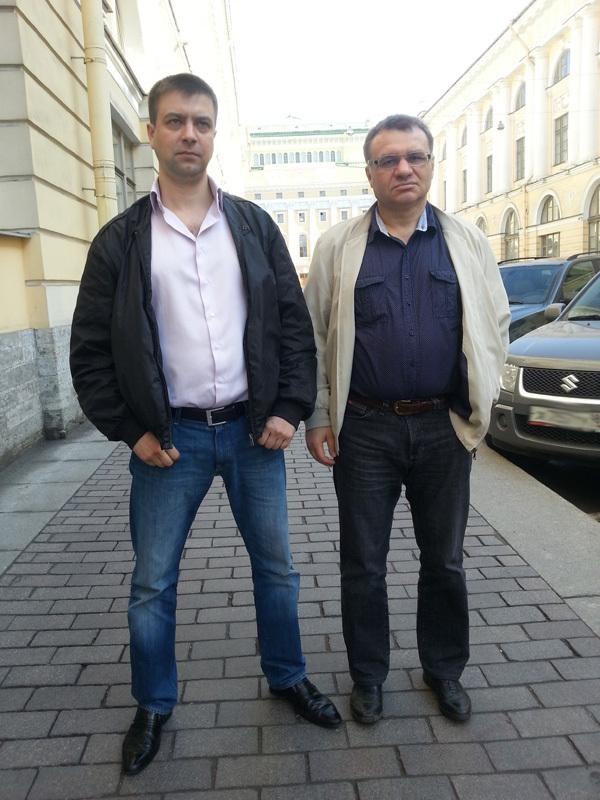 Сергей Топорков и его адвокат Георгий Валович