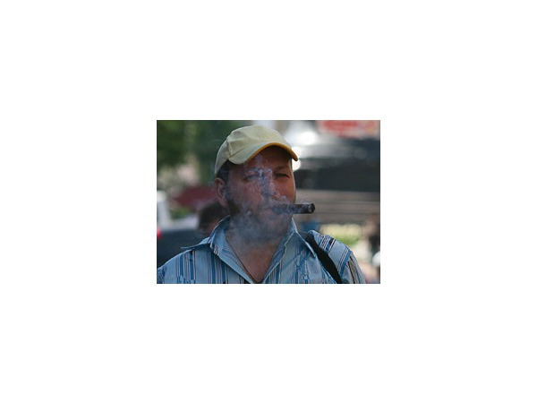 Курильщики сигар протестовали на Малой Садовой против антитабачного закона
