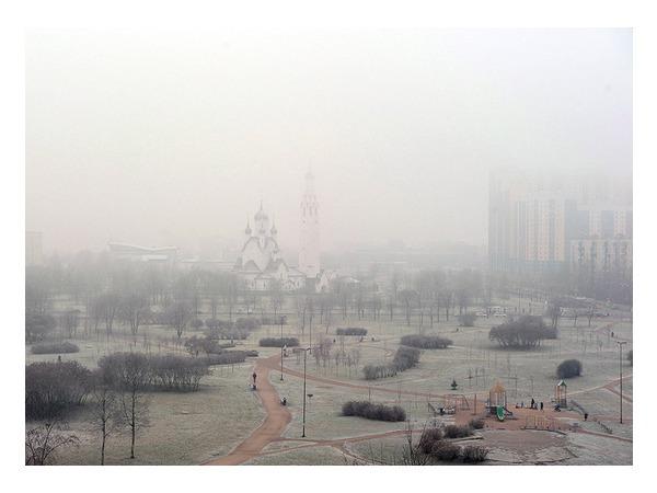 Смог и туман накрыли Петербург