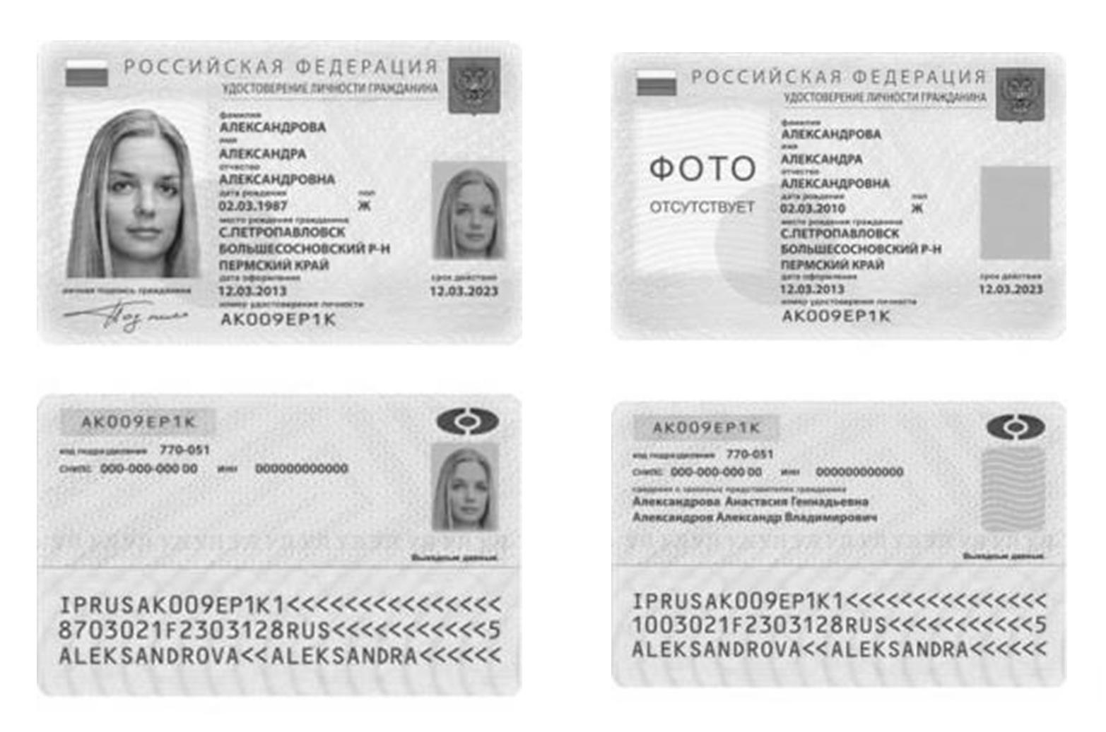 размеры фото на паспорт рф 2016