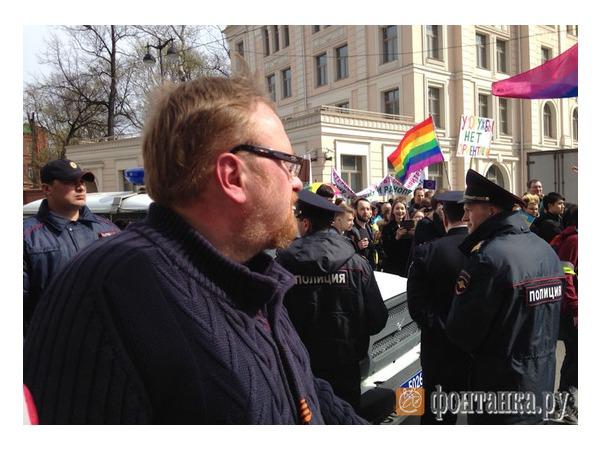 Полиция не пустила Милонова к геям на Первомай