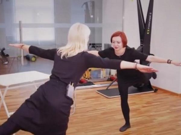 Производственная гимнастика: Пилатес и соло на стуле