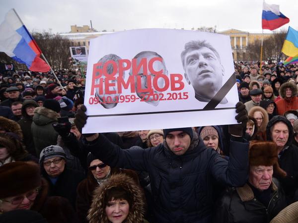 О Немцове вспомнили на улицах