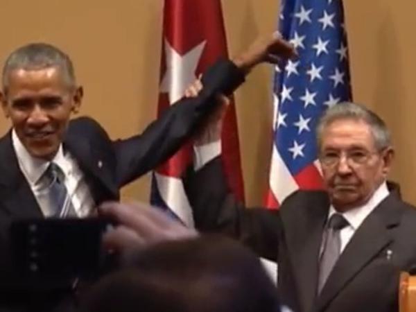 Кастро не дал Обаме себя хлопнуть