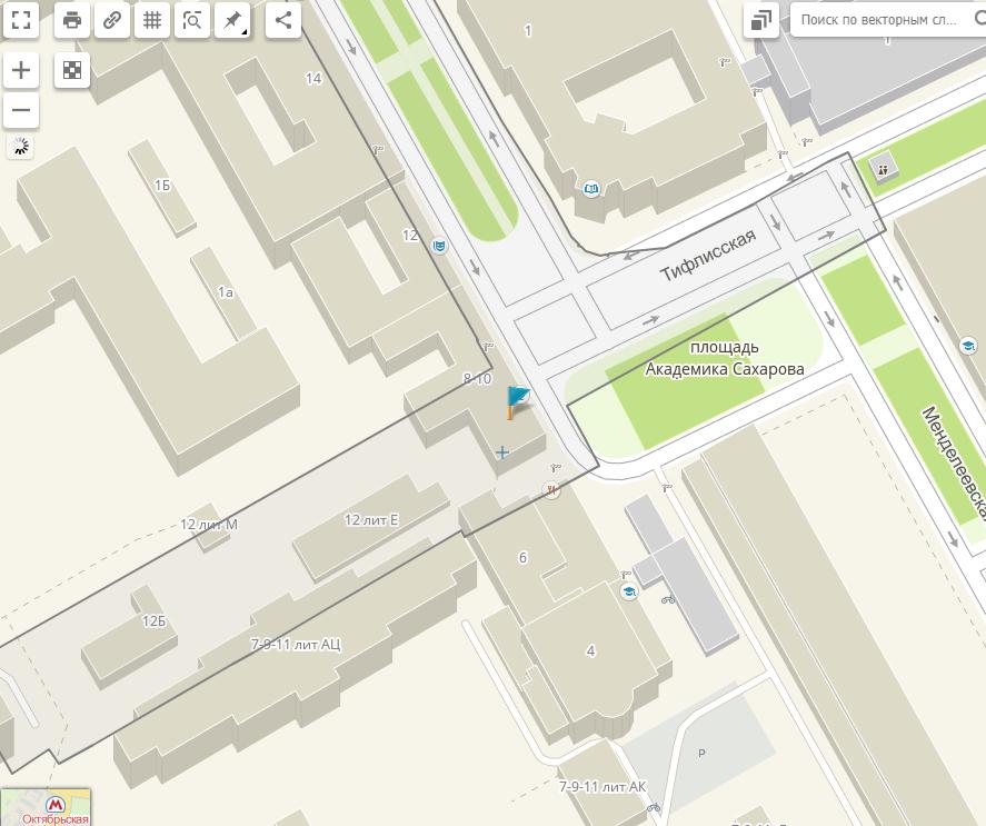 У-резать памятник по Генплану (Иллюстрация 7 из 10) (Фото: скриншот с сайта maps.kosmosnimki.ru)