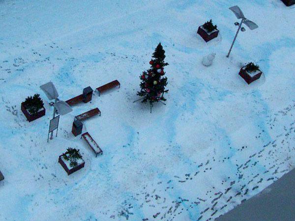 Синий петроградский снег
