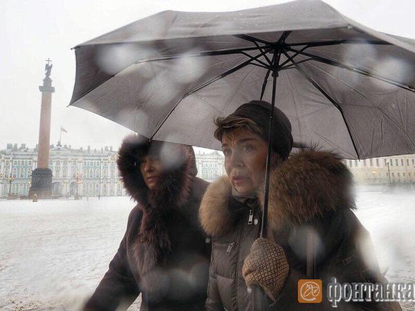 На выходных в Петербурге обещают дождь и снег