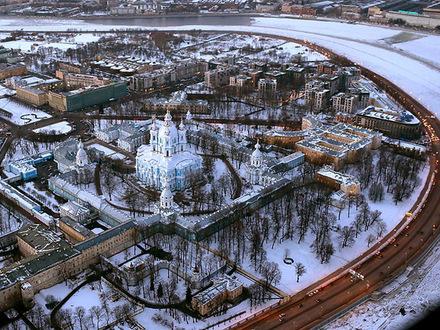 Смольный собор: панорама на 4,5 миллиона