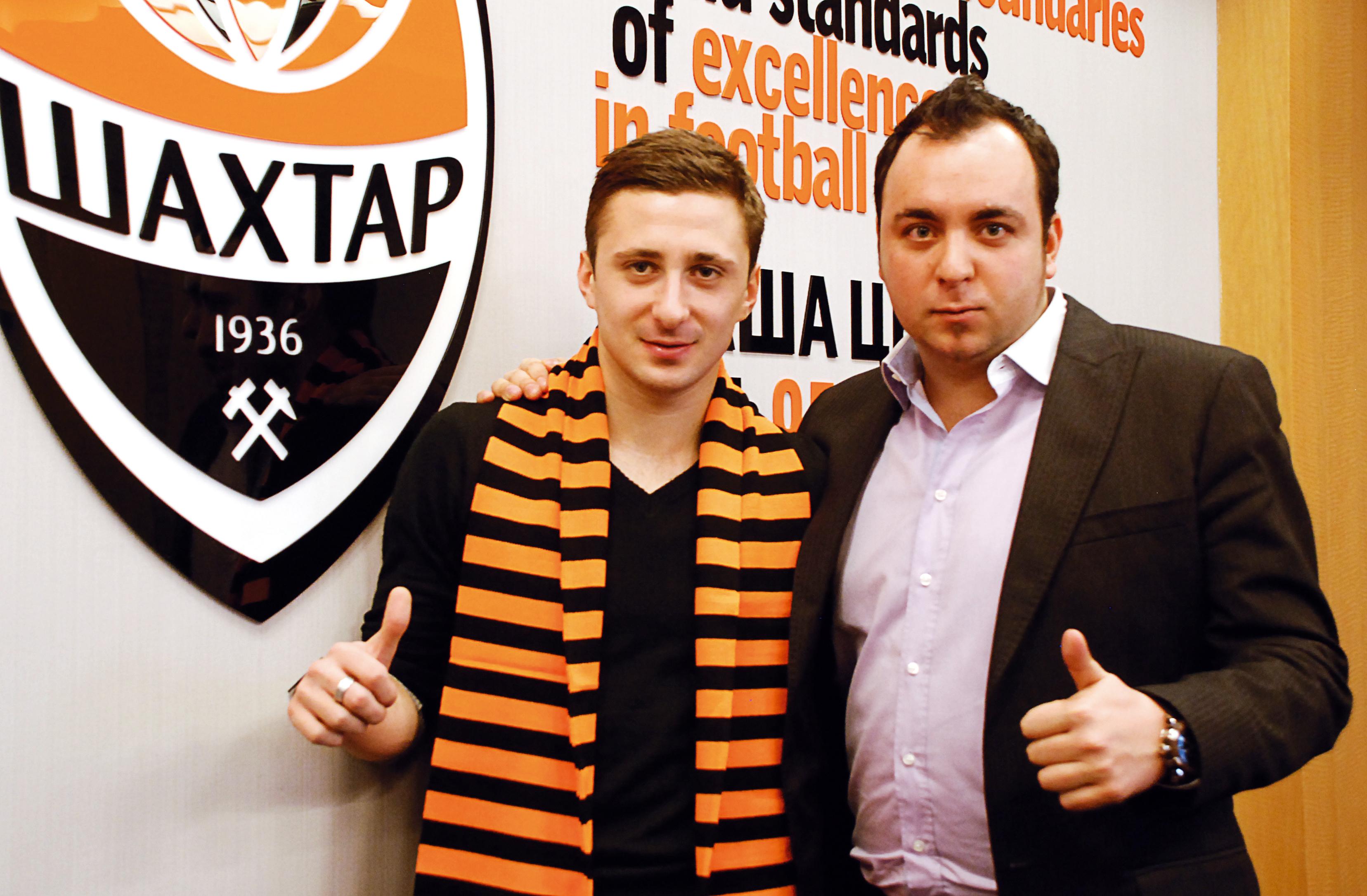 На фото: Переход Давида Таргамадзе, ставшего лучшим игроком Грузии, в «Шахтер».