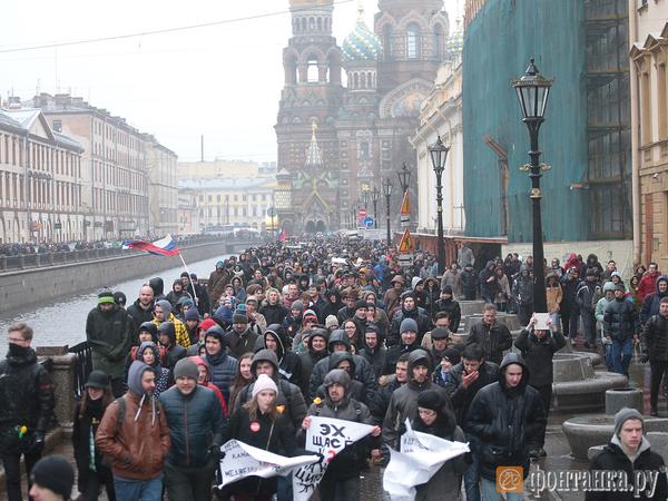 День России в Петербурге: с Навальным и без