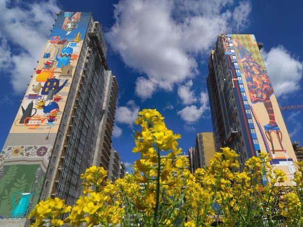 В ЖК «Граффити» показали, какой красочной может быть петербургская архитектура