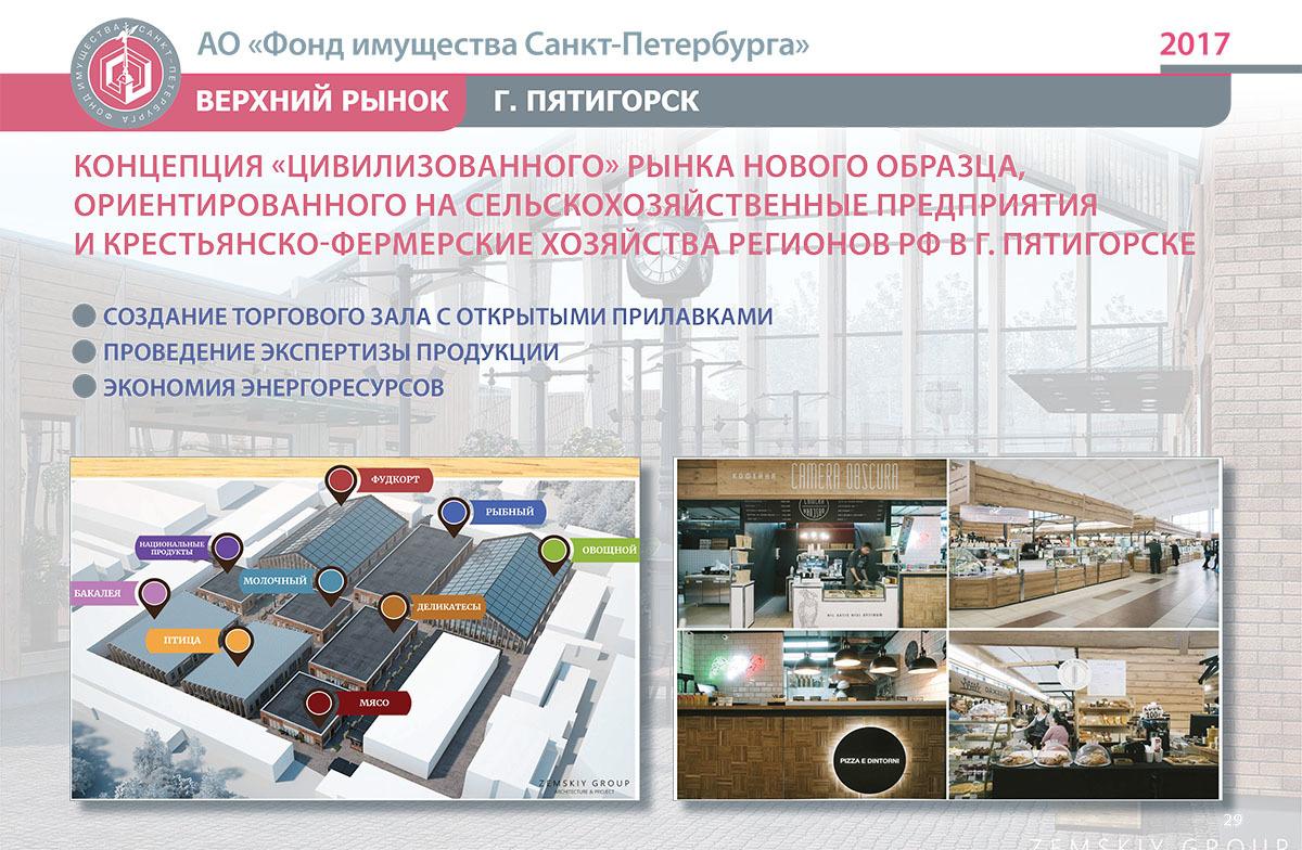 Концепция дизайна Верхнего рынка в Пятигорске