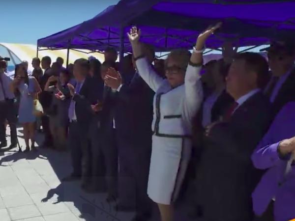 Валентина Матвиенко первая изизвестных политиков приземлилась ваэропорту «Иссык-Куль»