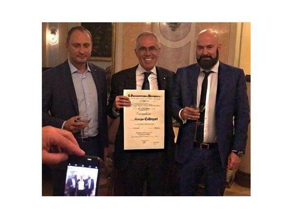 Заместитель генерального директора  «Аэрофлота» Джорджио Каллегари удостоен высшей государственной награды Италии
