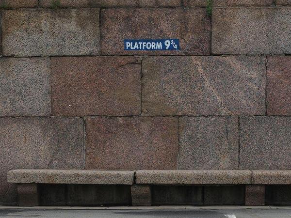 В Петербурге появилась своя платформа, с которой Гарри Поттер ехал в Хогвартс