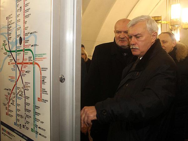 Полтавченко поведал окольцевой линии метро вПетербурге