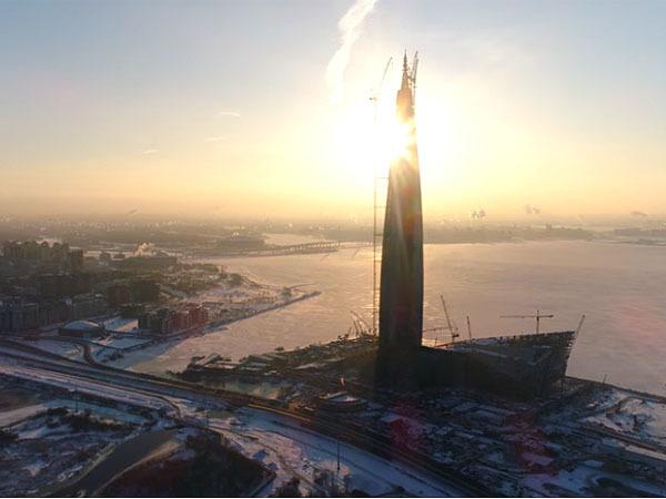 Как выглядит самый северный небоскреб Европы в мороз