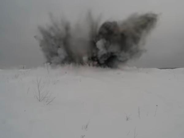 Минобороны опубликовало видео стрельб снарядами «Краснополь» на Лужском полигоне