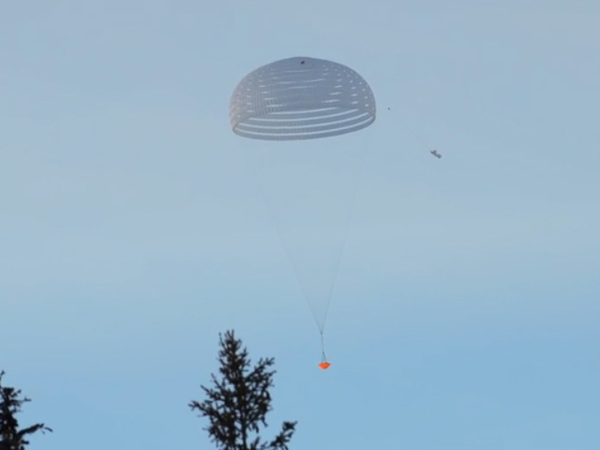 Парашют для приземления наМарс испытали наЗемле