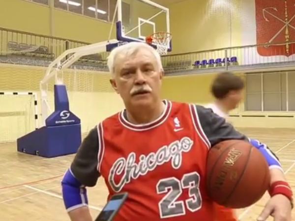 Полтавченко принял вызов Кадырова  на баскетбольном паркете