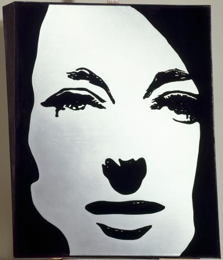 """Мартиал Райсс. """"Металлическая картина: геометрически выпуклый портрет"""" (1964)"""