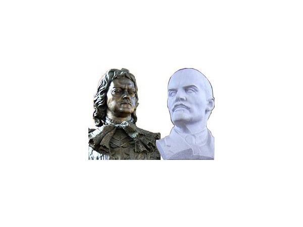 Ленин превращается… превращается в Петра