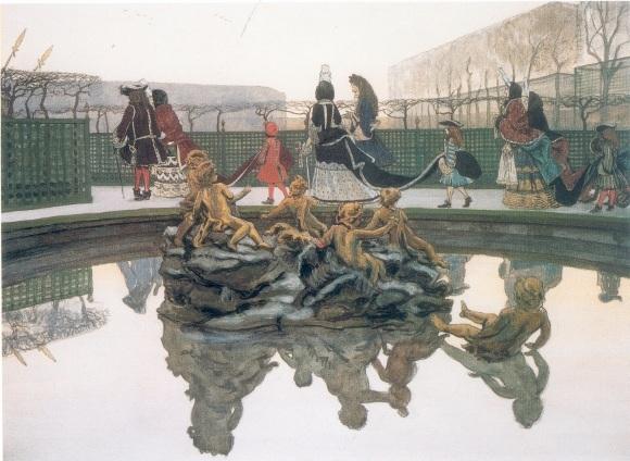 "Александр Бенуа. ""Прогулка короля"" (1906)"