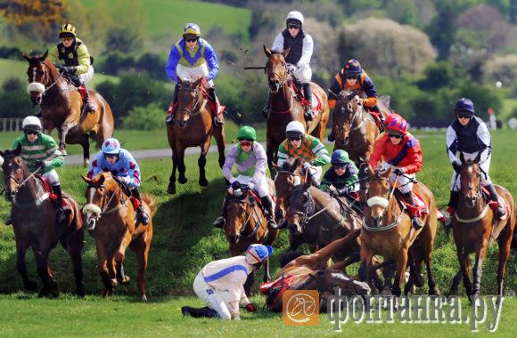 """Пат Мёрфи (Ирландия). Второй приз в категории """"Спорт"""": Панчстоунский фестиваль, происшествие на скачках"""