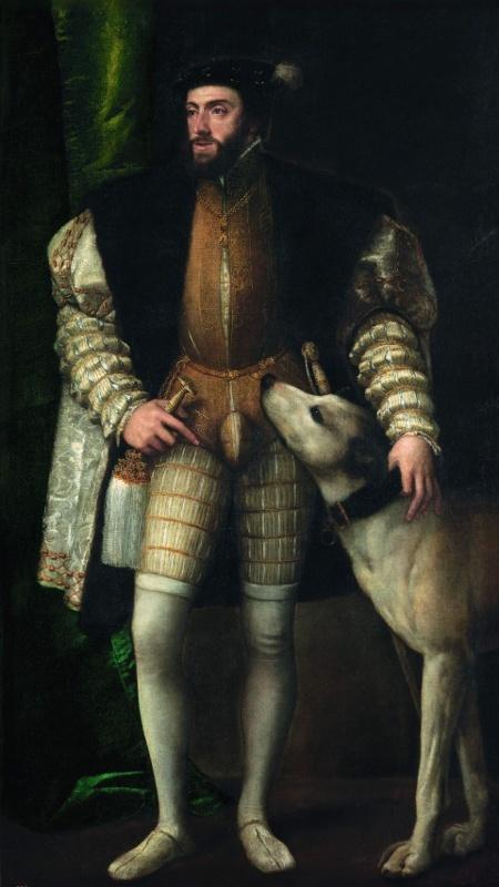 "Тициан Вечеллио ""Портрет императора Карла V с собакой"" (1533)"