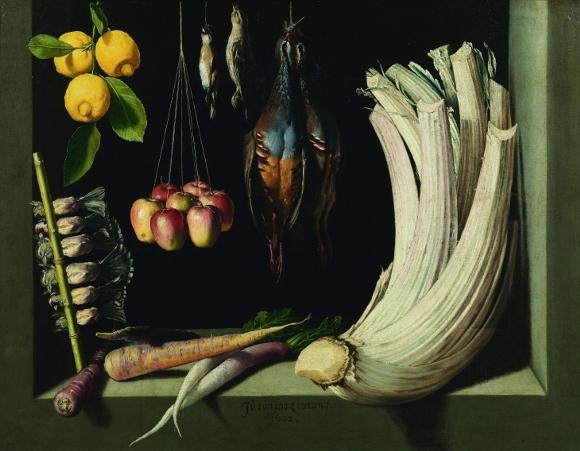 Хуан Санчес Котан «Натюрморт с дичью, овощами и фруктами» (1602)