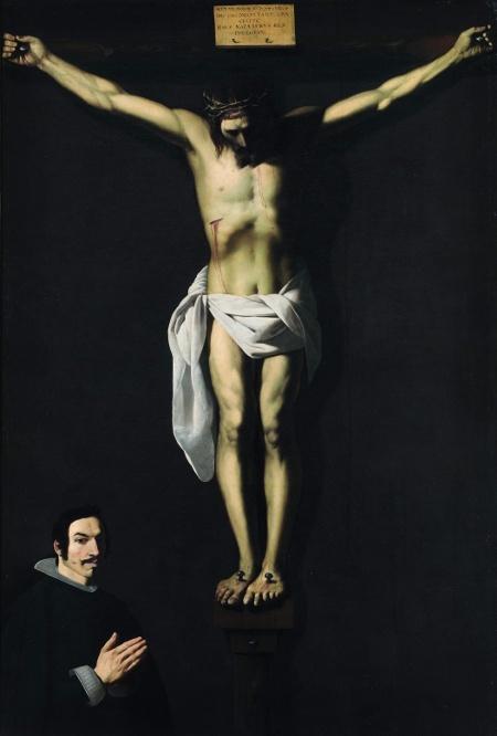 """Франсиско Сурбаран """"Распятие с донатором"""" (1640)"""