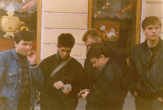 Фото: Игра в шмен на Невском, начало 80-х