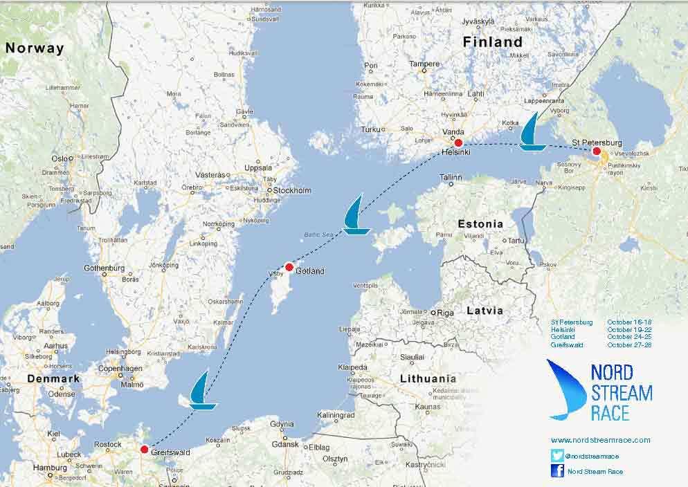 Карта предоставлена организаторами регаты