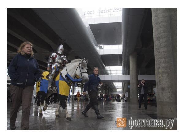 Читатели: рыцарь на белом коне в аэропорту «Пулково»