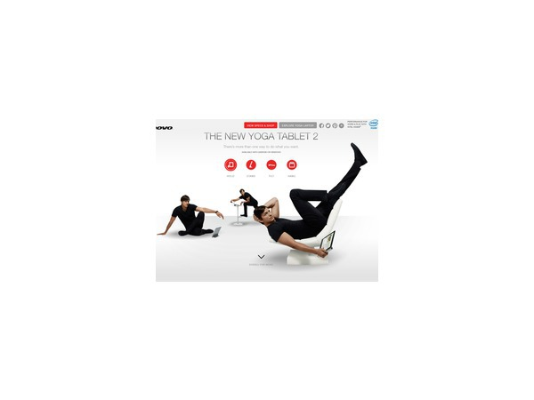 Эштон Кутчер представил новый планшет Yoga Tablet 2 Pro с мини-проектором