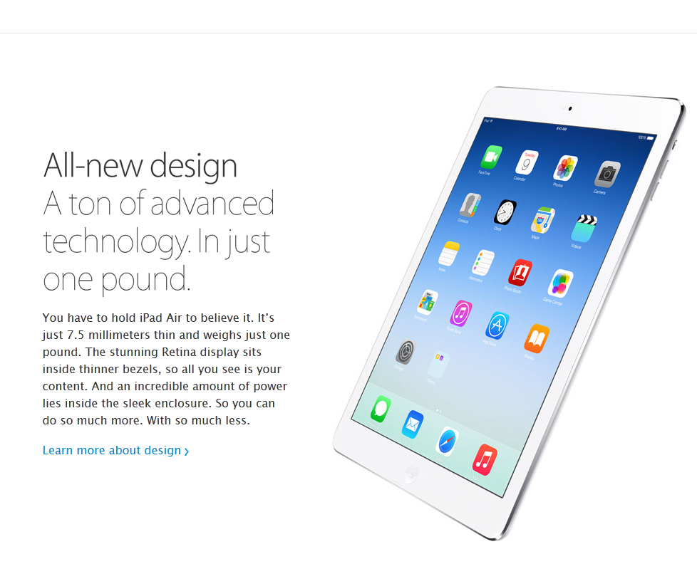 Скриншот с сайта apple.com