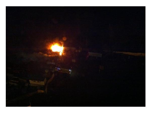 На Гжатской улице сгорел гараж
