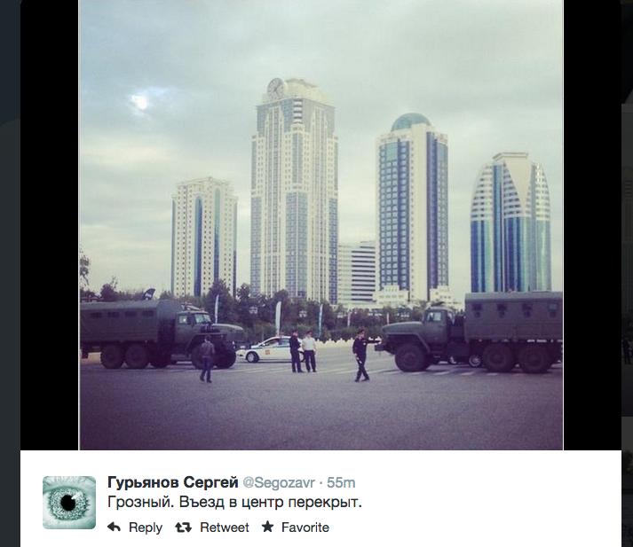 после взрыва въезд в центр Грозного закрыт