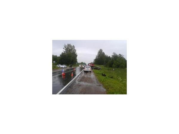 В Ленинградской области столкнулись пассажирский автобус и самосвал