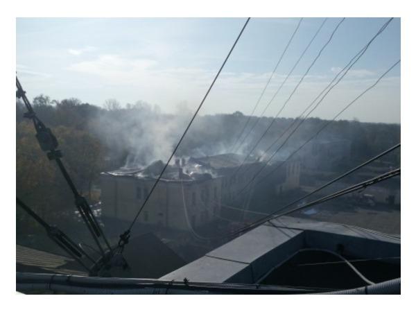 В Красном Селе произошел пожар на территории воинской части
