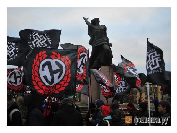 Марш против этнопреступности в Петербурге собрал 80 человек