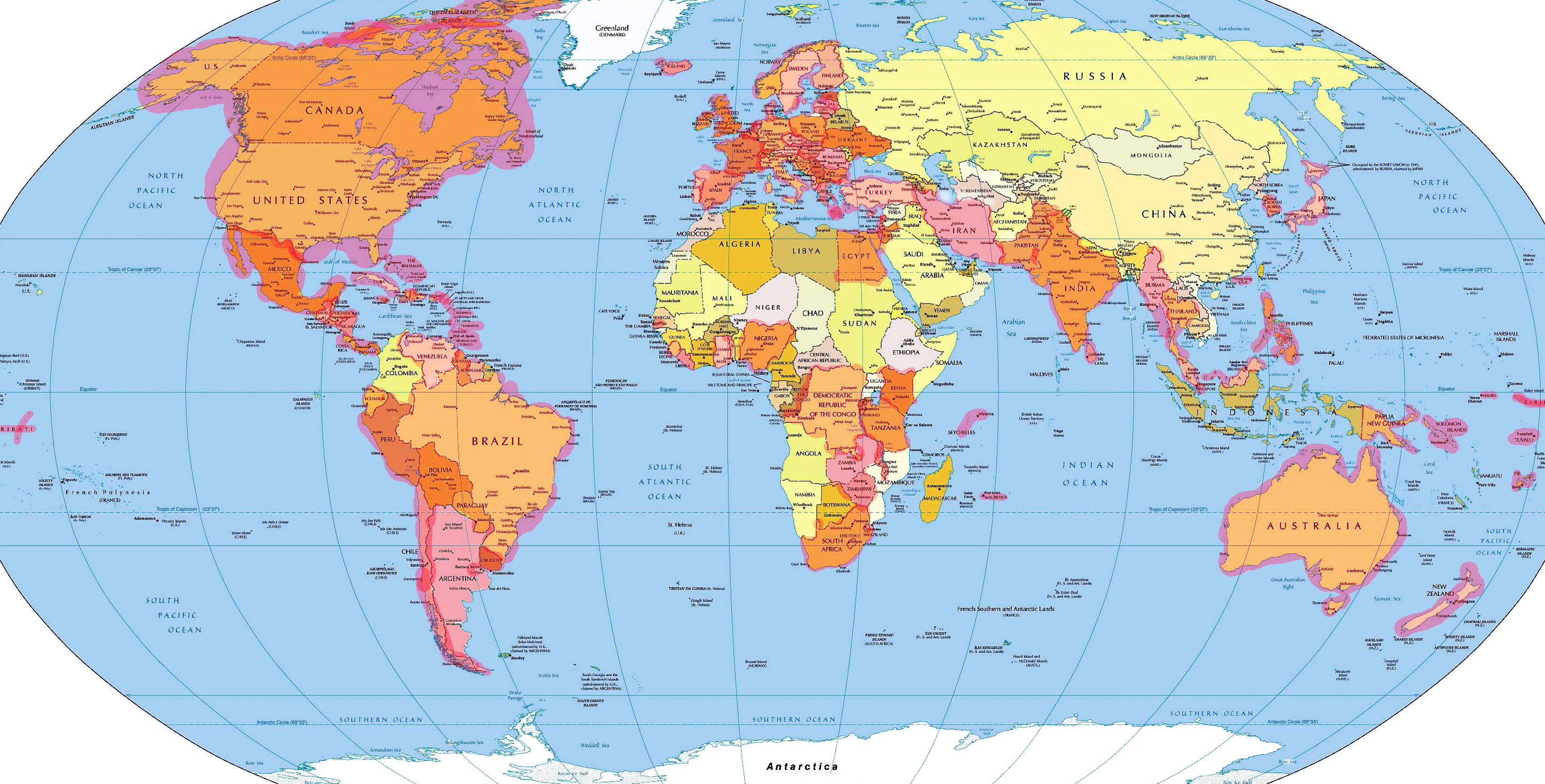 Разрешённые страны для поездки за границу сотрудникам МВД