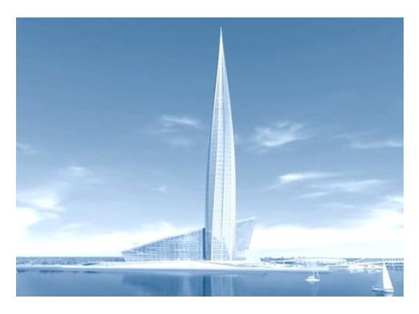 Для фундаментной плиты многофункционального здания «Лахта-центра» необходимо 44 тысячи кубометров бетона