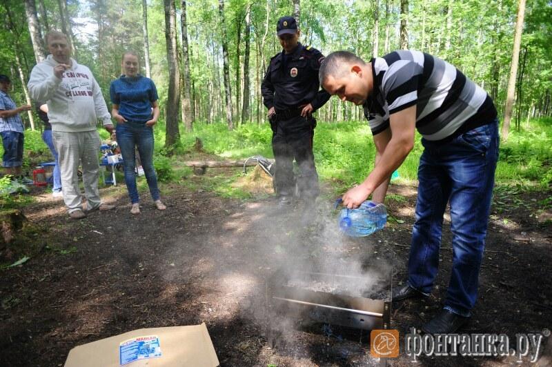 """Рейд полицейских против """"шашлычников"""" в парке"""