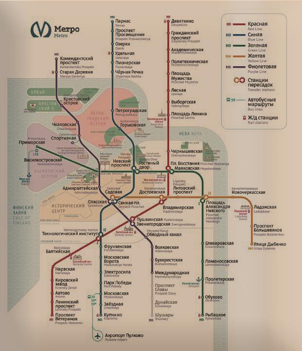 Студия Артемия Лебедева разработала новый дизайн схемы петербургского метро (Иллюстрация 1 из 1) (Фото: скриншот)